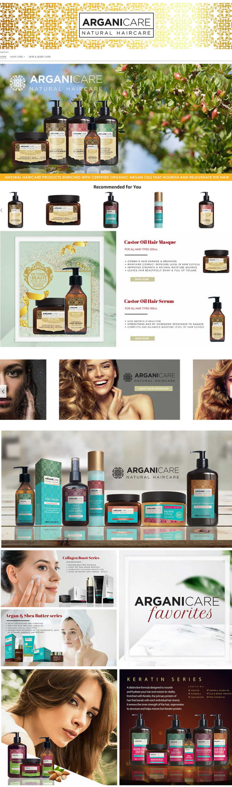 Storefront Arganicare UK